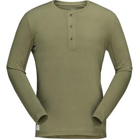 Norrøna Svalbard Camisa de Abuelo Hombre, olive drab